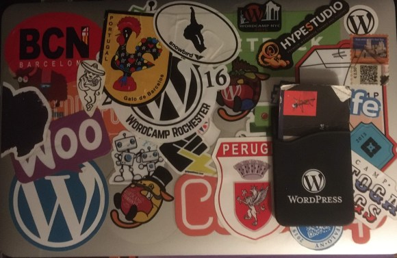 Macbook Air with stickers
