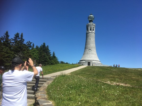 The tower at the top of Mount Greylock in Massachusetts