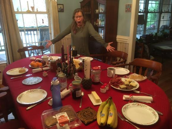 Yummy breakfast spread.