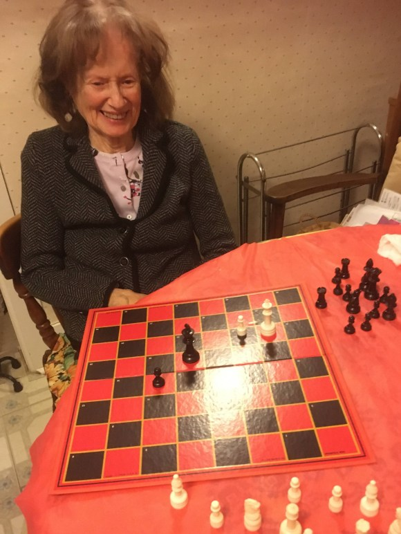 Mom playing Chess with me