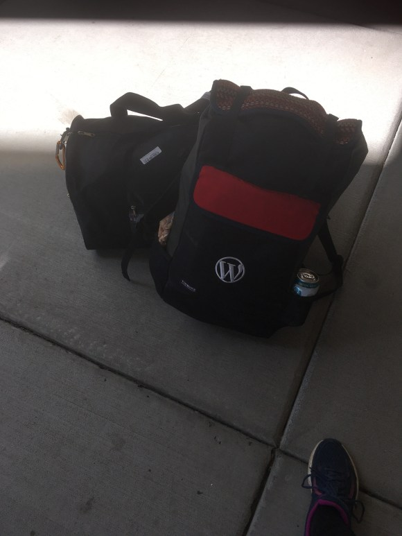 Image of my two traveling bags - neatly packed.