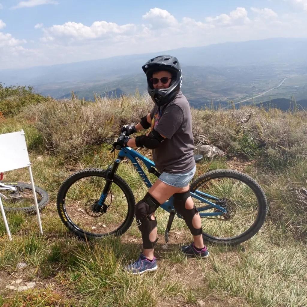 Chrissie Mountain Biking