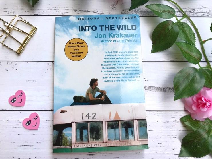 """Into the Wild"" by Jon Krakauer on paperback"