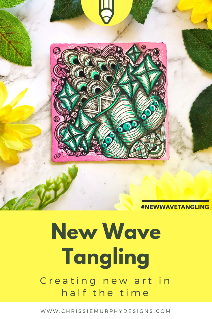 New Wave Tangling - Creating new zentangle art in half the time
