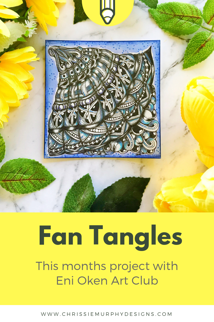 Fan Tangles with Eni Oken Art Club