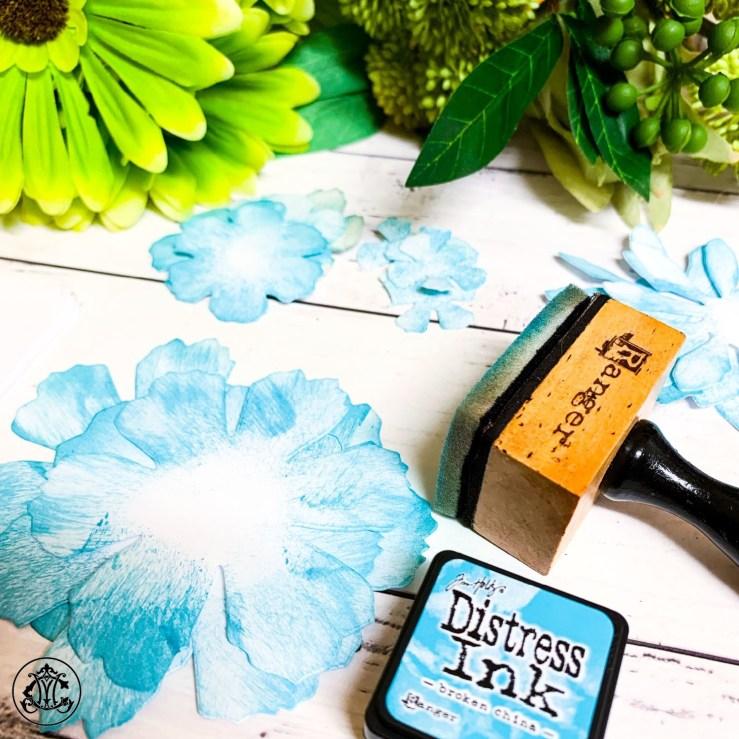 Die Cut Florals using Sissix Bigz Tattered Florals