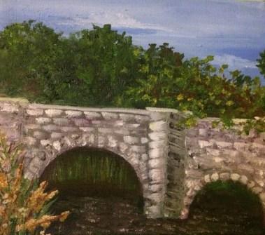 Across the Bridge, 2011 (Oil on Linen)