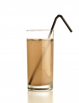 Dirty Water in Glass with Straw