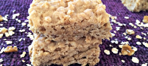 Maple Syrup Oat Nut Bar Cookies