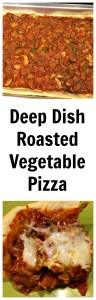 Roasted Vegetable Deep Dish Pizza