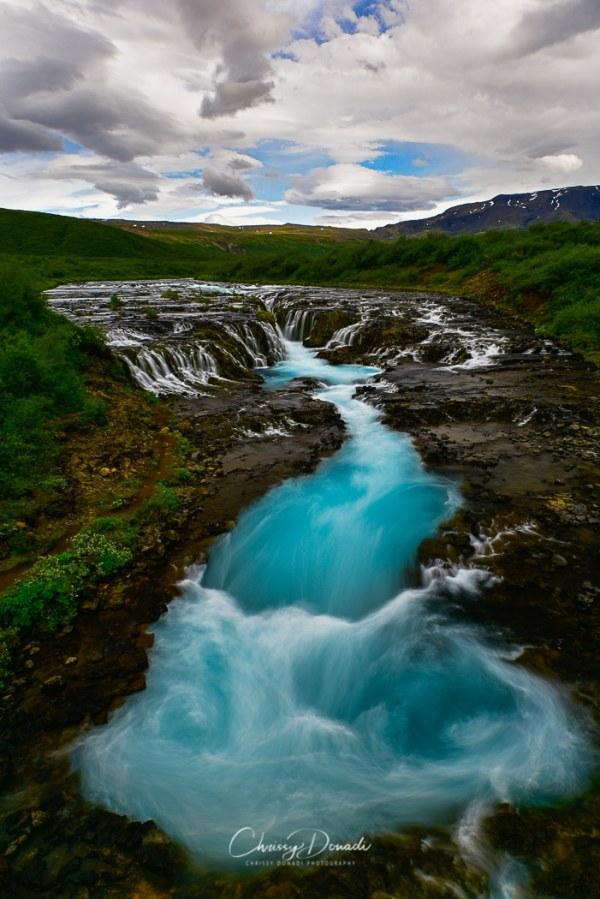 Iceland's Bruarfoss Waterfall by Landscape Photographer Chrissy Donadi