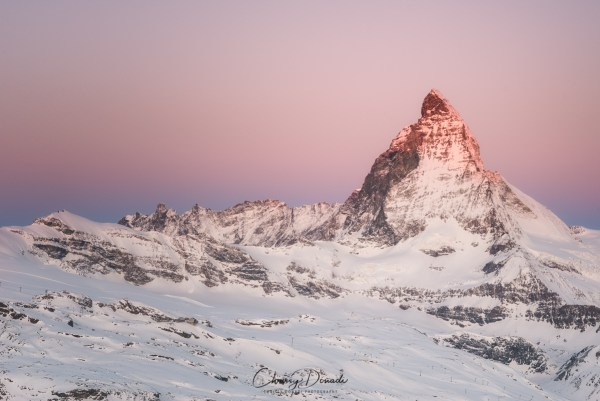 Winter Photography Gear List for Landscape Photography Blog Post with cover image of Matterhorn in Switzerland
