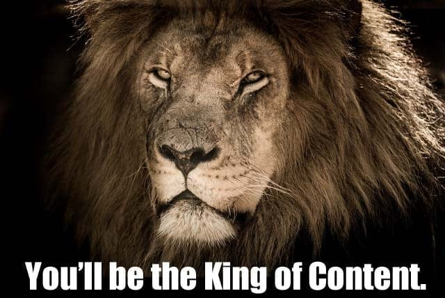 Be the King of Content - Learn How To Create High Quality Content Fast and Easy
