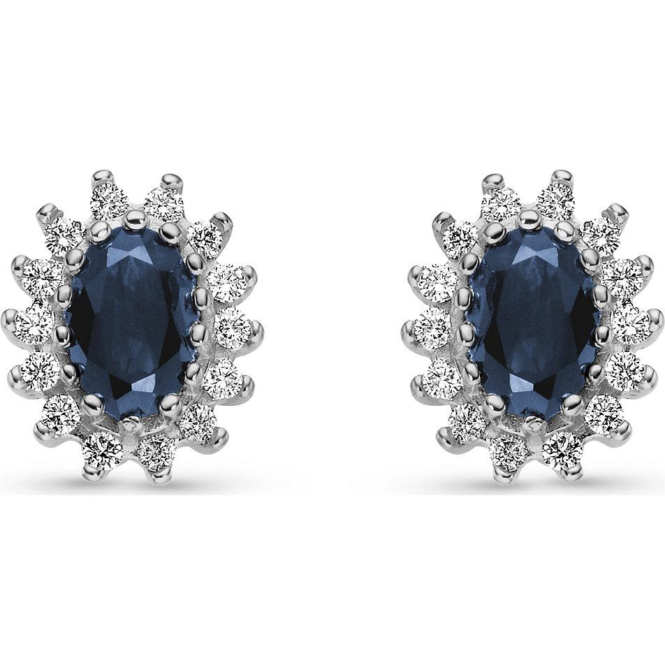 Ohrstecker silber mit blauem stein  Modeschmuck