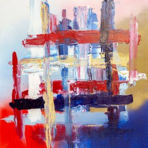 Blue/Red Painting For Sale