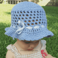 Crochet Toddler Sun Hat Tutorial