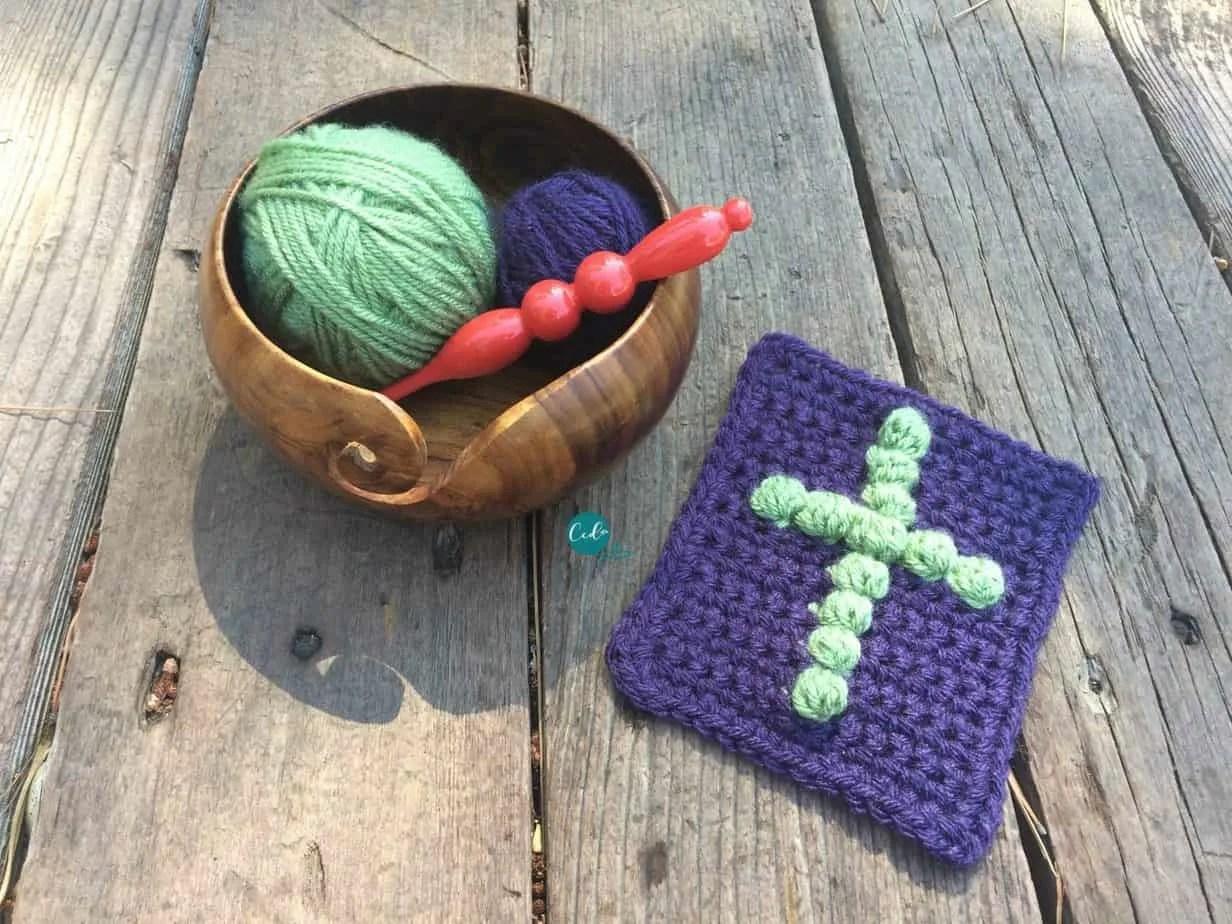 Pocket Prayer Cloth Free Crochet Pattern Christacodesign