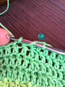 double crochet two together