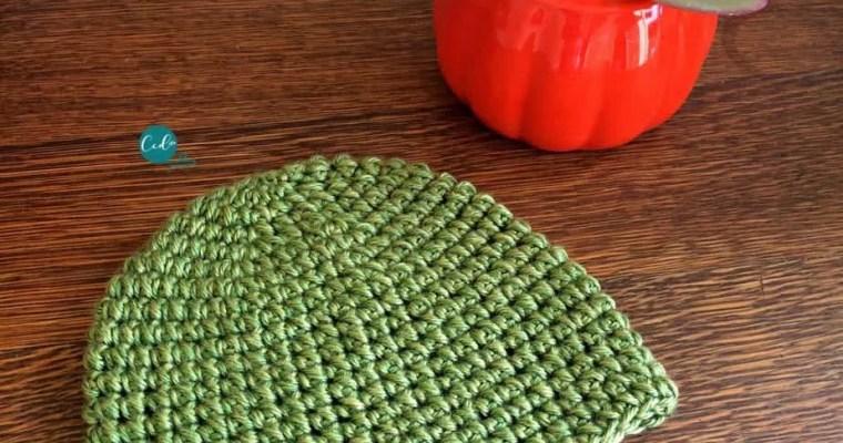 Mini Puff Stitch Crochet Hat Tutorial