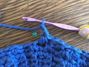 sinlge crochet cluster