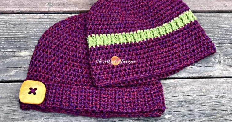 Embellished Basic Beanie Free Crochet Pattern