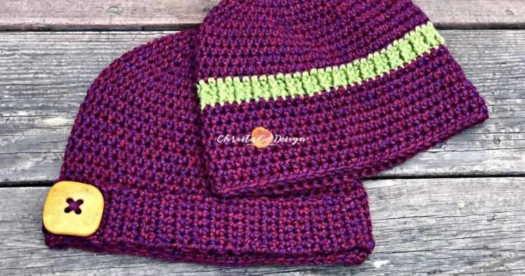 Embellished Basic Beanie Free Crochet Pattern