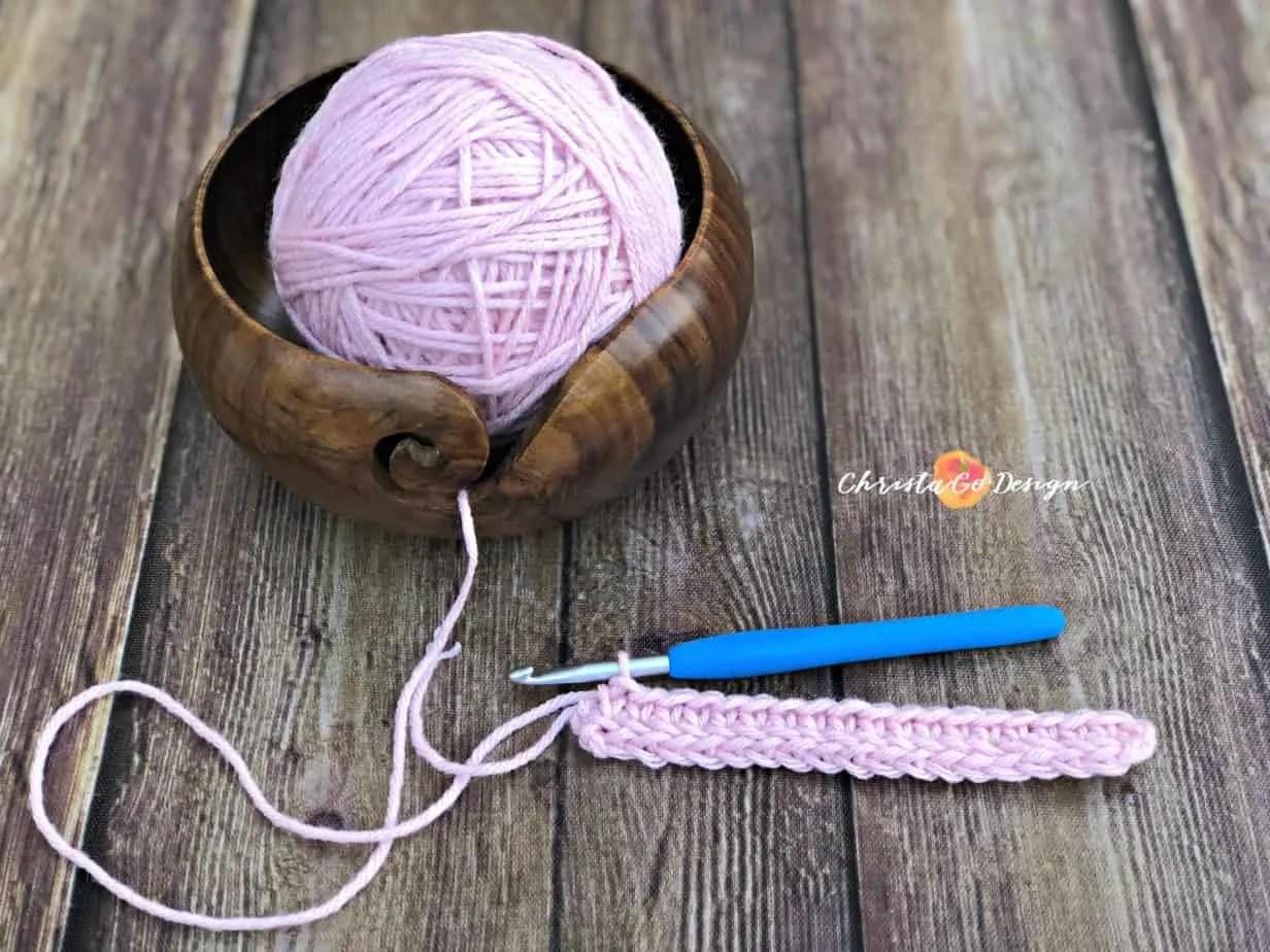 Foundation Single Crochet Video & Photo Tutorial