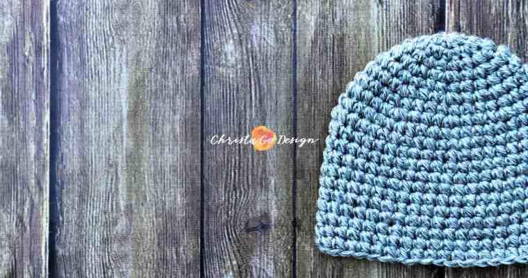 Pebbled Beanie Crochet Pattern
