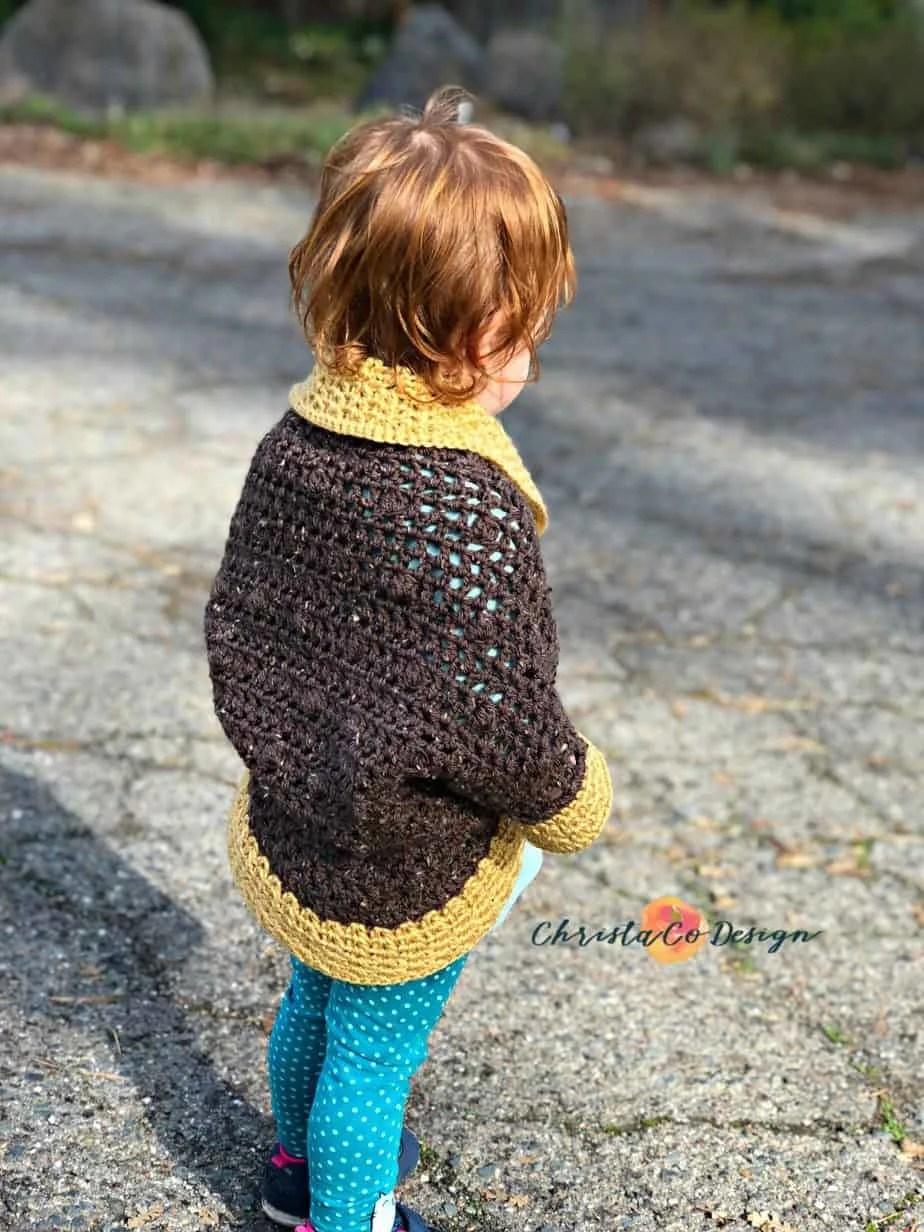 Toddler Crochet Cocoon Shrug Pattern Christacodesign
