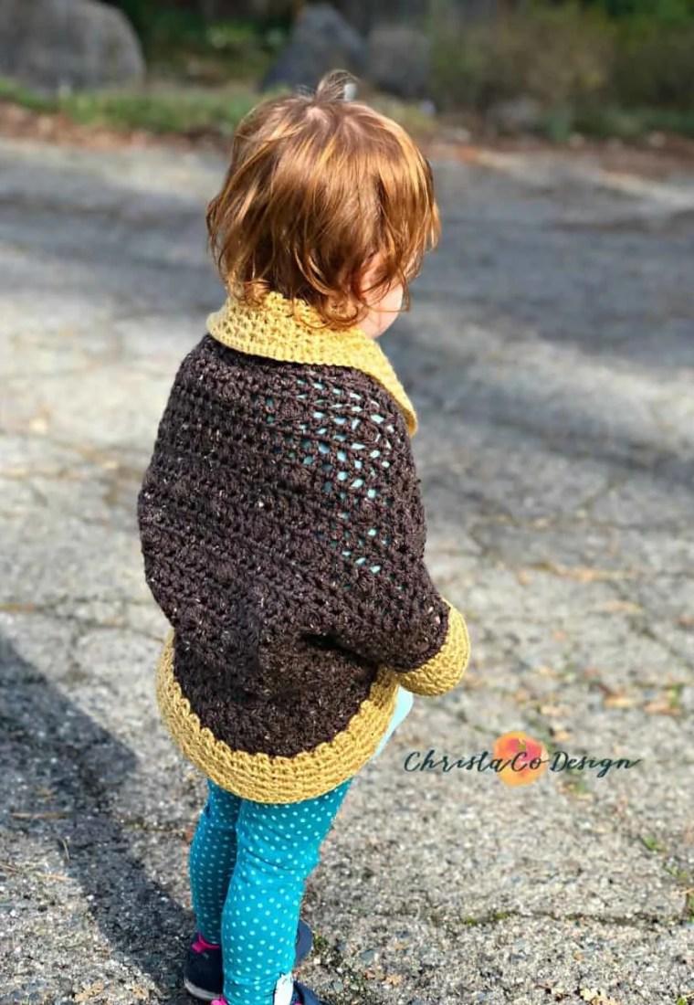 Toddler Crochet Cocoon Shrug Pattern