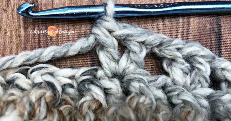 V-Stitch Crochet Photo Tutorial