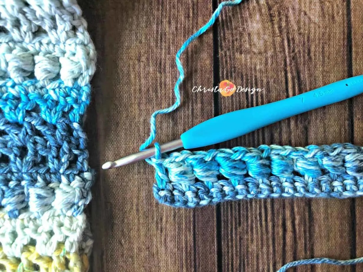 Crochet Slanting Cluster (Bead) Stitch Photo & Video Tutorial