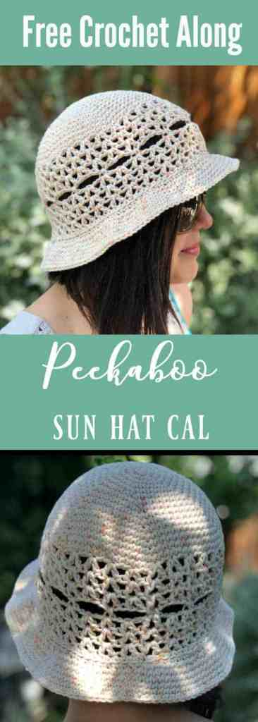 free crochet along sun hat