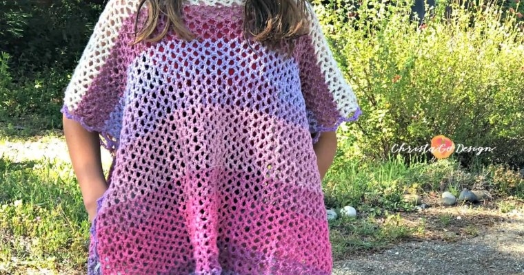 Merletto Crochet Lace Poncho Free Pattern