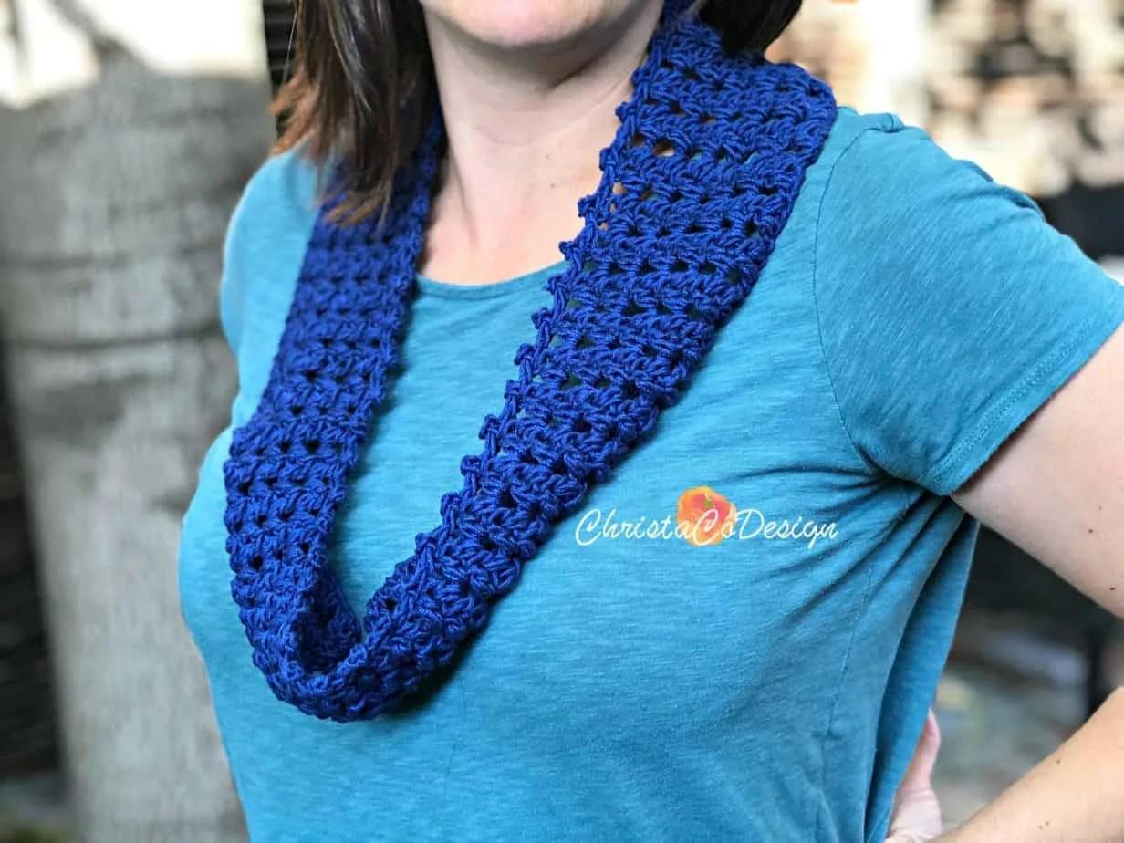 Fiore Free Crochet Cotton Cowl Pattern