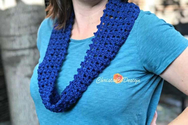 Fiore Free Crochet Cotton Cowl Pattern Christacodesign