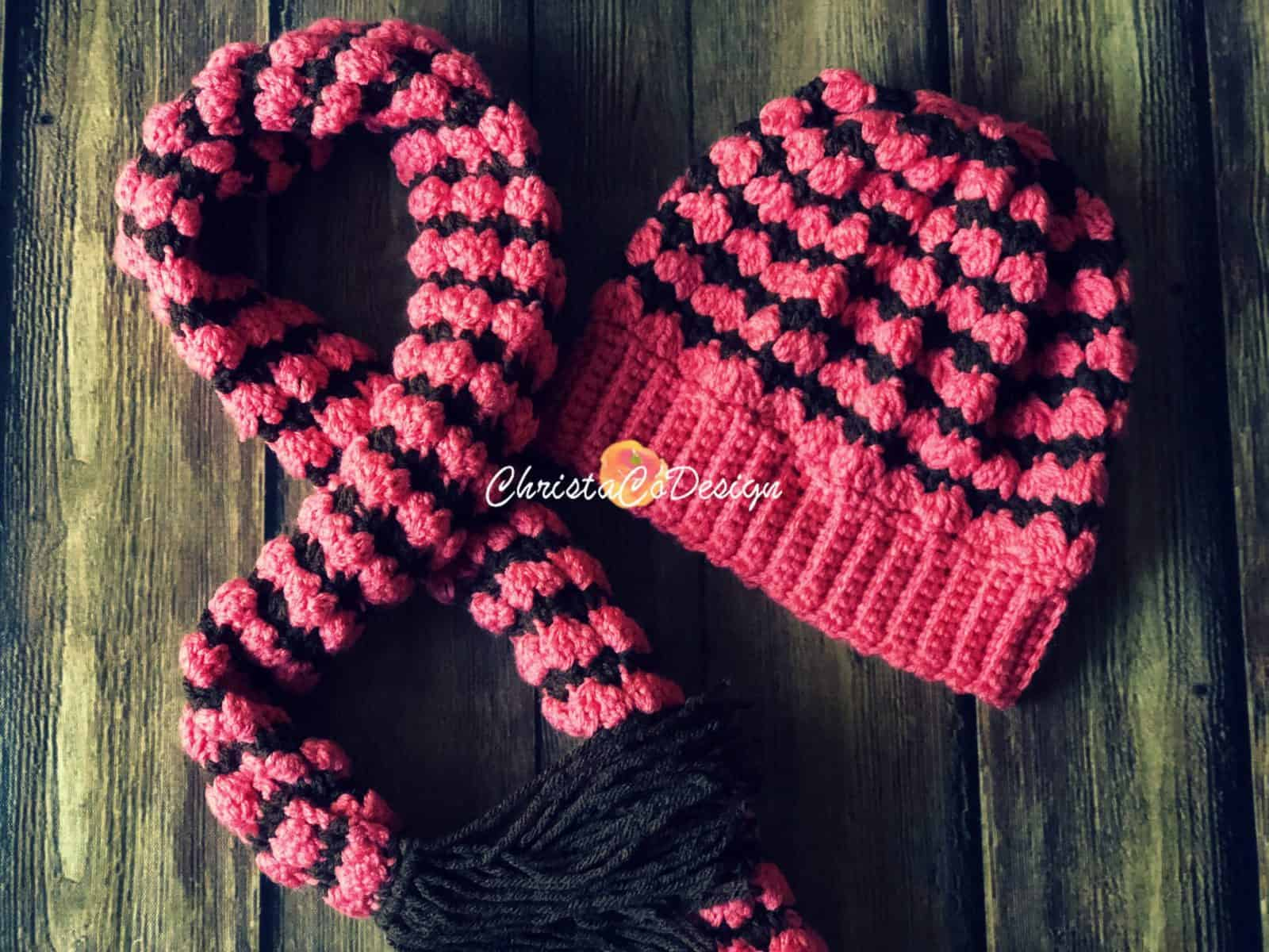 Dakota Hat & Scarf Set Free Crochet Pattern