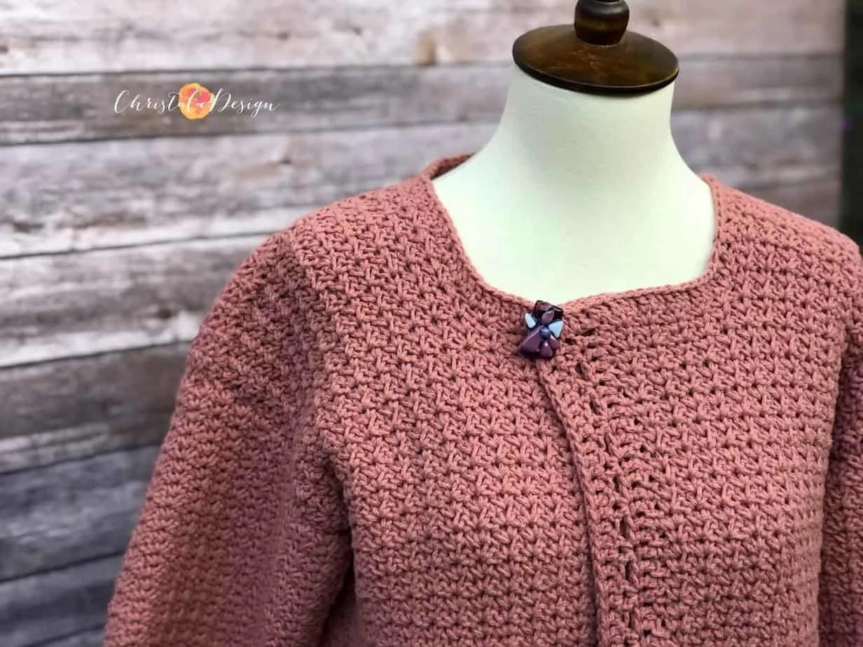 Positano Pocket Cardigan Free Crochet Pattern