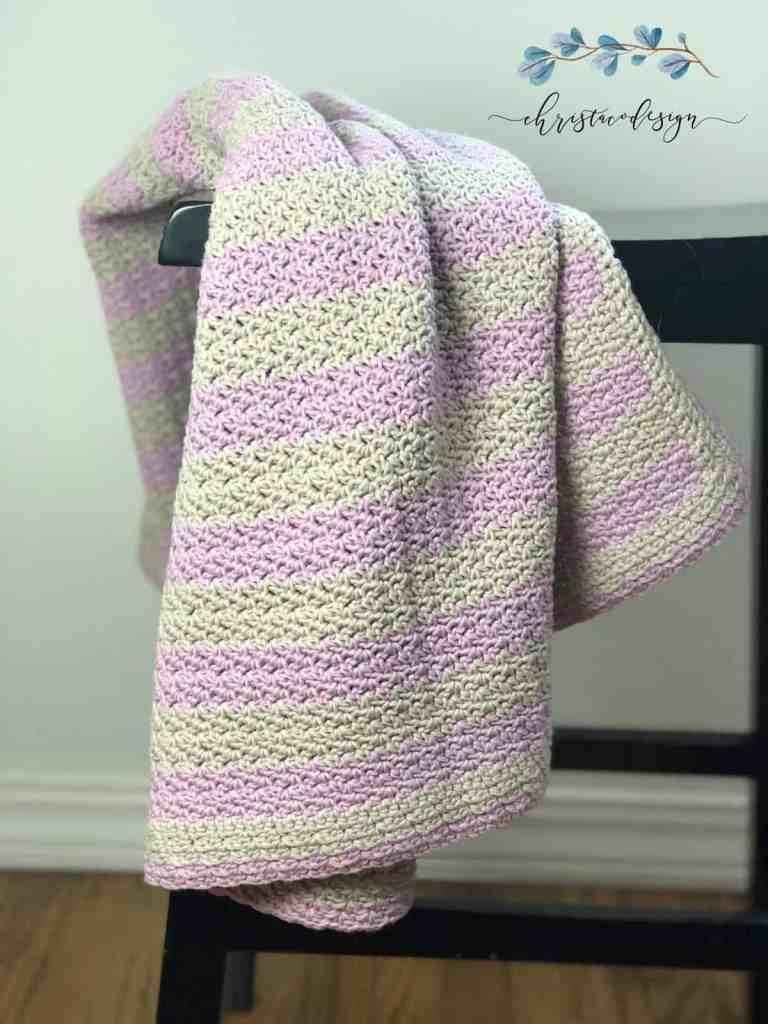 picture of draped crochet cotton blanket