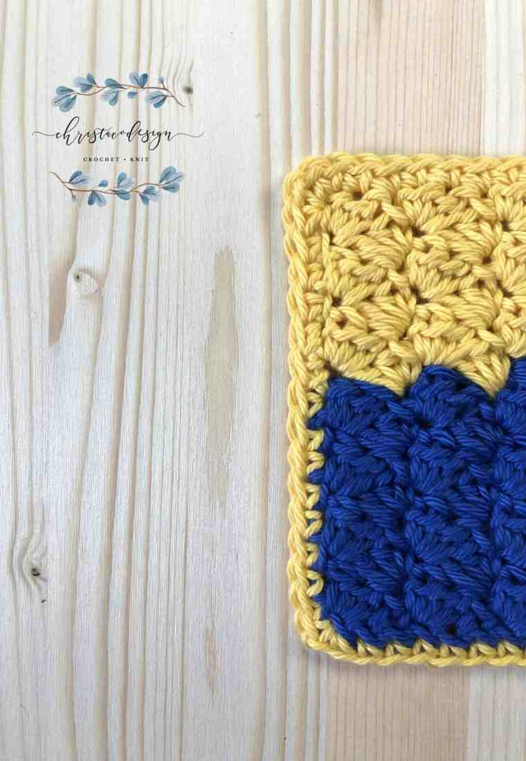 Wild Lupine Washcloth a Free Crochet Pattern