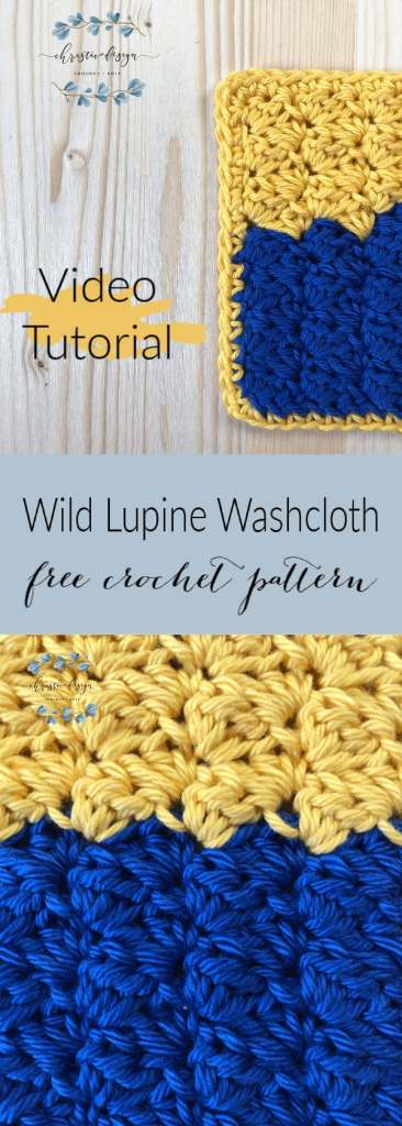 picture of pin image with text washcloth with video tutorial