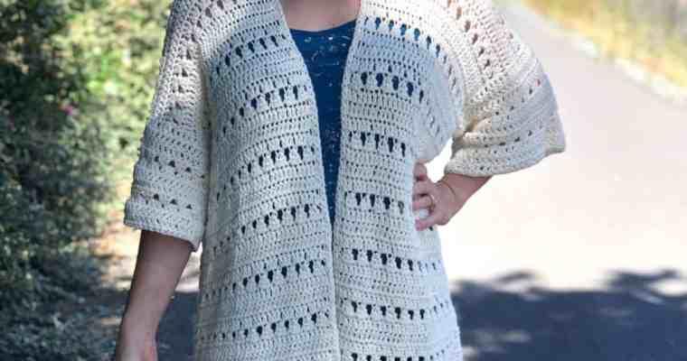 Mid Summer Cardigan a Free Crochet Pattern