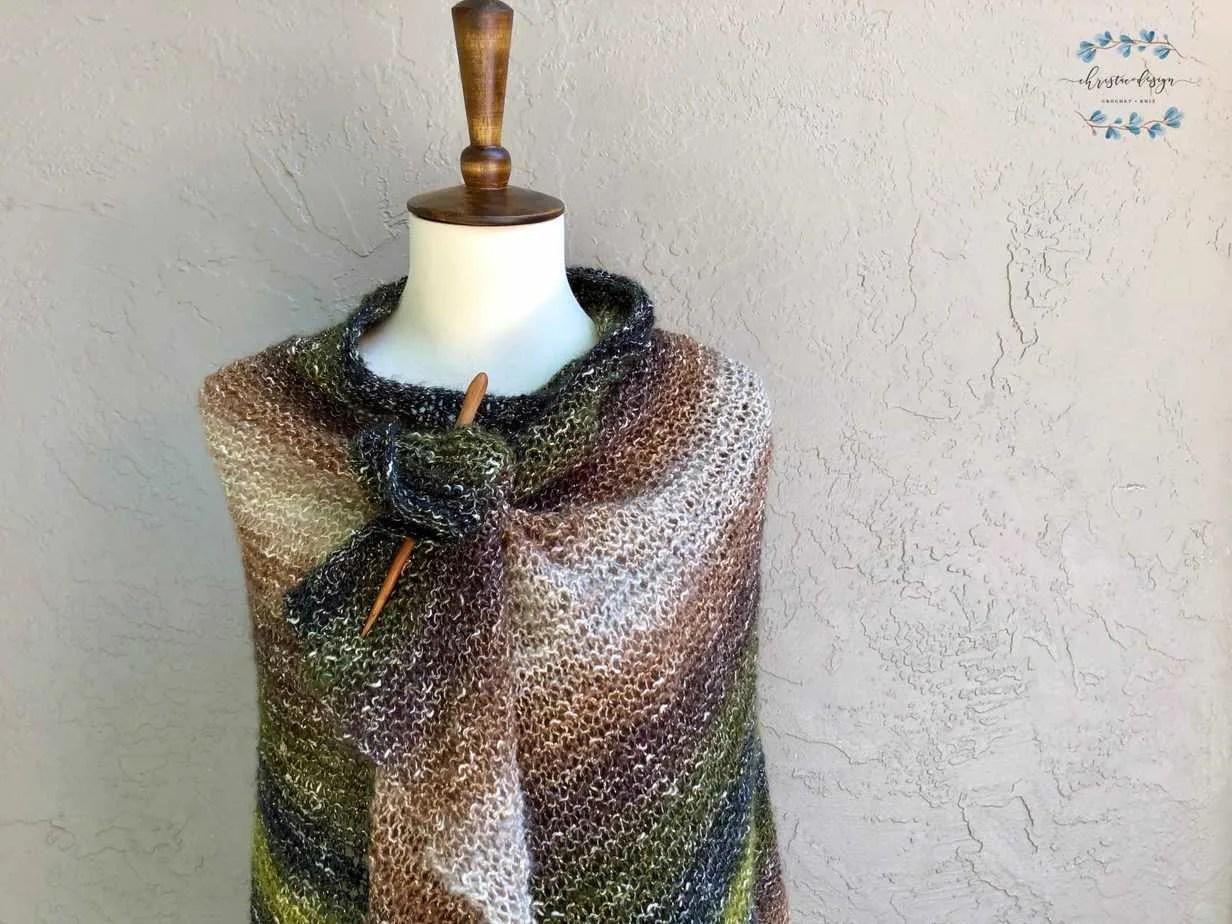California Wrap a Free Beginner Knit Pattern