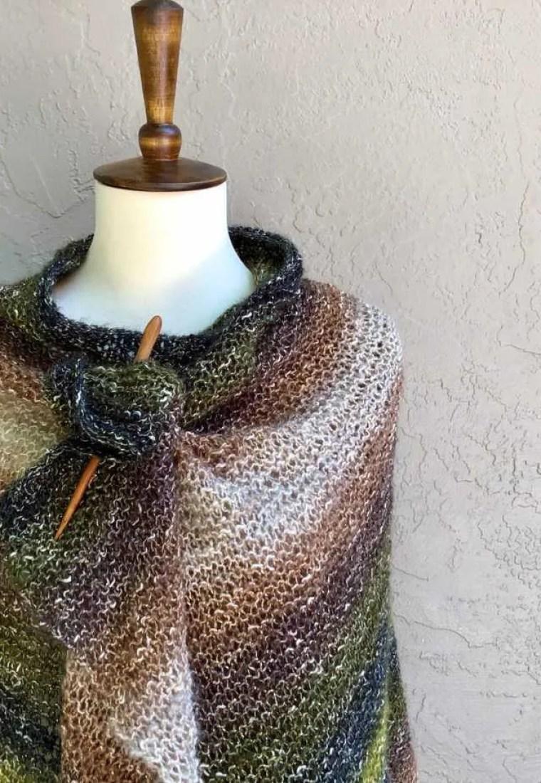 California Knit Wrap a Free Beginner Knitting Pattern