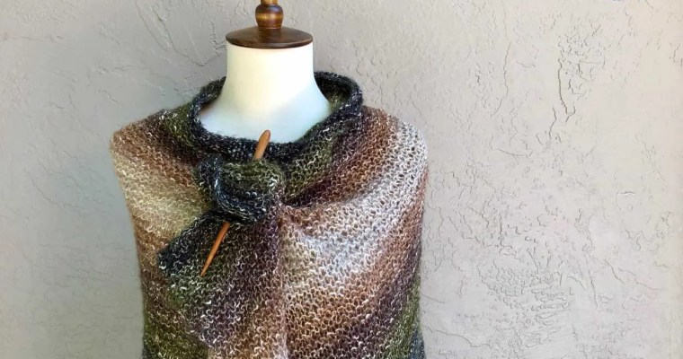 California Wrap a Free Beginner Knit Pattern