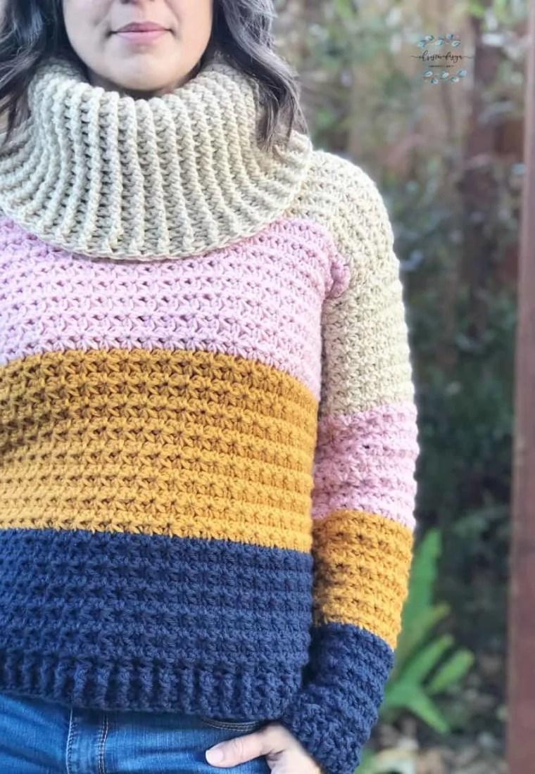 Sunset Sweater a Free Crochet Sweater Pattern