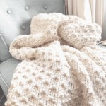 Bella Vita Easy Knit Blanket Beginner Knitting Pattern Christacodesign