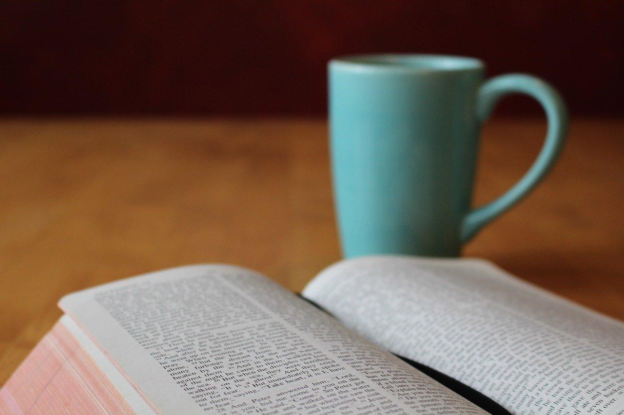 bible, study, coffee