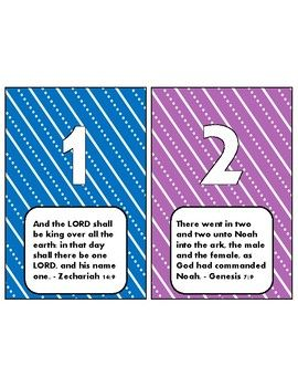 These 4x6 cards feature the numbers 1-12. Each number has a corresponding King J...