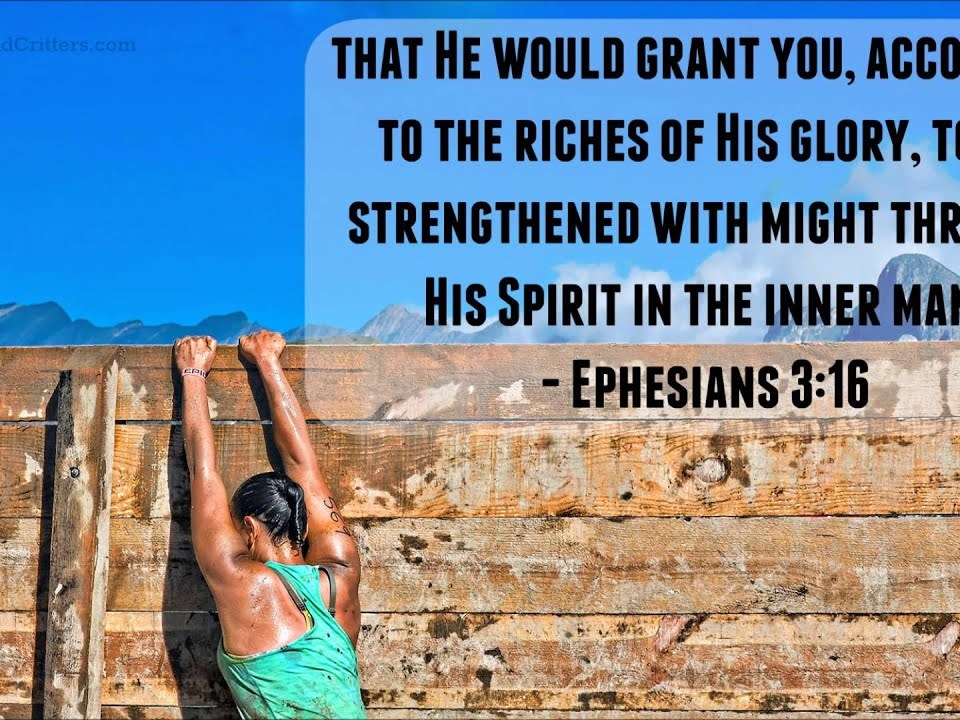 Daily Bible Verse - Ephesians 3:16 - Daily Inspiration and Encouragement from the BIble